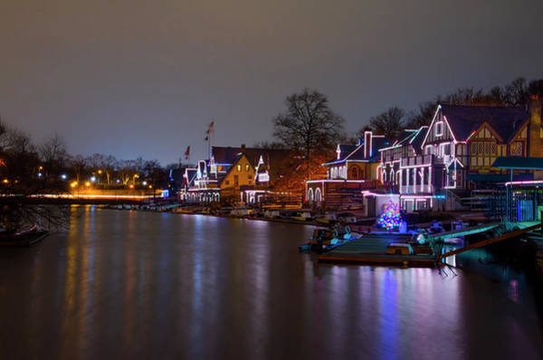 Photograph - Quiet Night At Boathouse Row by Bill Cannon