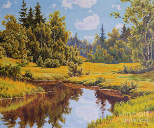 Wall Art - Painting - Quiet River by Veikko Suikkanen