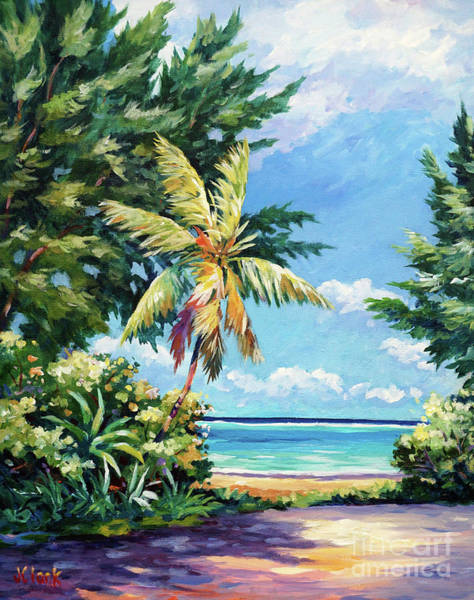 Brac Painting - Quiet Stretch Of Beach by John Clark