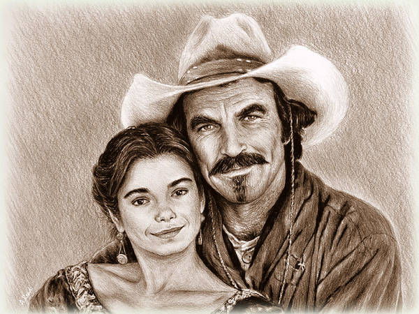 Wall Art - Drawing - Quigley Down Under Sepia by Andrew Read