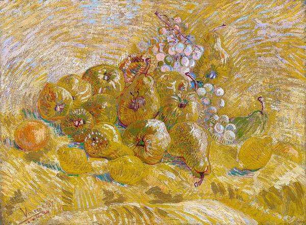 Wall Art - Painting - Quinces, Lemons, Pears And Grapes - Digital Remastered Edition by Vincent van Gogh