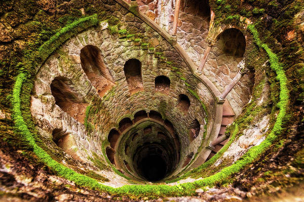 Photograph - Quinta Da Regaleira Gardens And Initiation Well - Sintra, Portugal by Nico Trinkhaus