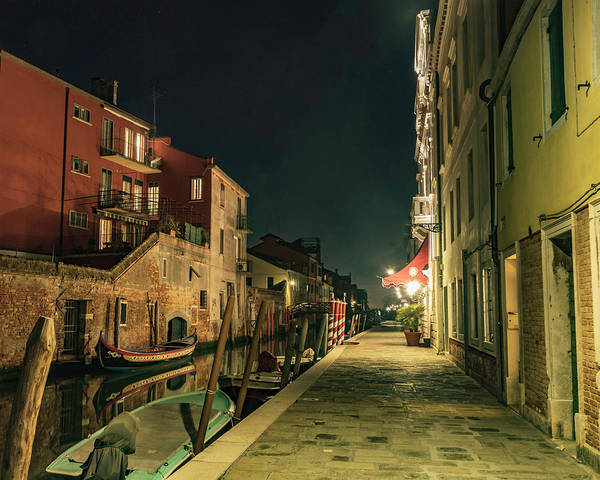 Photograph - Quite Street Or Canal by Laura Hedien