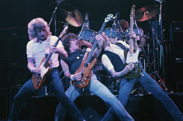 Rock Music Photograph - Quo Rock Out by Keystone