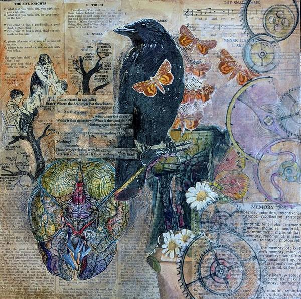 Mixed Media - Quoth The Raven by Jillian Goldberg