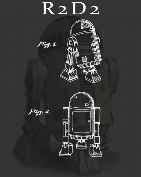 Star Wars Wall Art - Drawing - R2d2 Patent by Dan Sproul