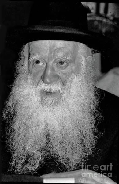 Photograph - Rabbi Yehuda Zev Segal - Study In Black And White by Doc Braham