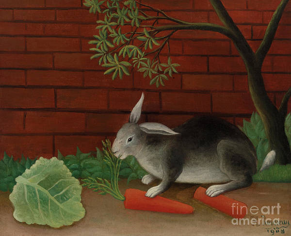 Veggies Painting - Rabbit, 1908 by Henri Rousseau