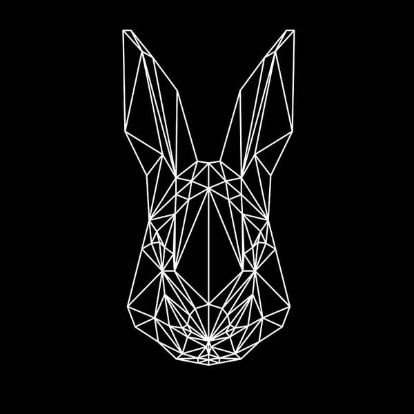 Animals In Clothes Wall Art - Digital Art - Rabbit On Black by Naxart Studio