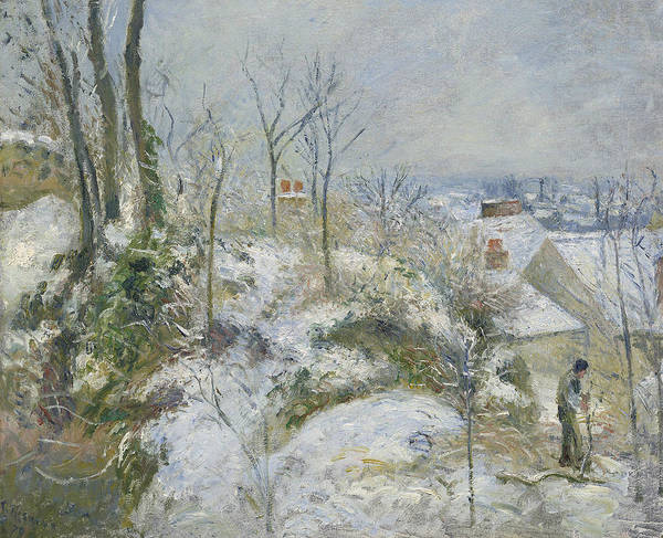 Painting - Rabbit Warren At Pontoise, Snow by Camille Pissarro