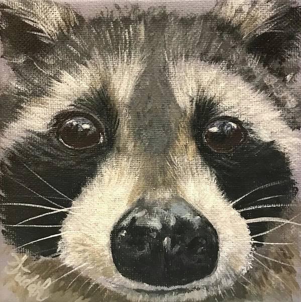 Wall Art - Painting - Raccoon #3 by Alana Judah