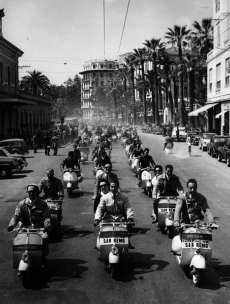 Motorcycle Racing Photograph - Race At San Remo by Keystone