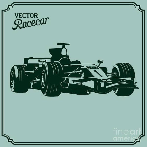 Wall Art - Digital Art - Race Car by Vrymoet