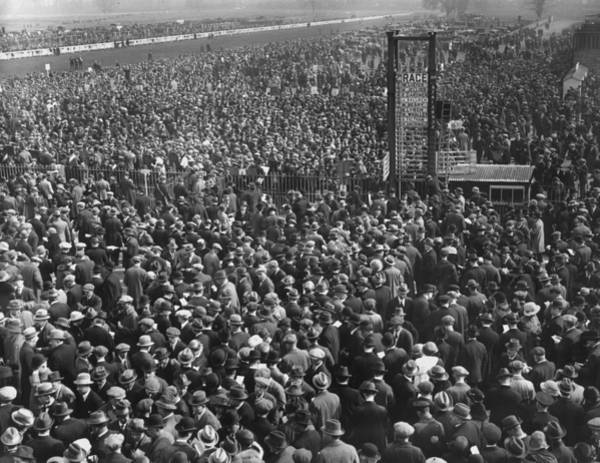 1923 Photograph - Race Crowd by Topical Press Agency