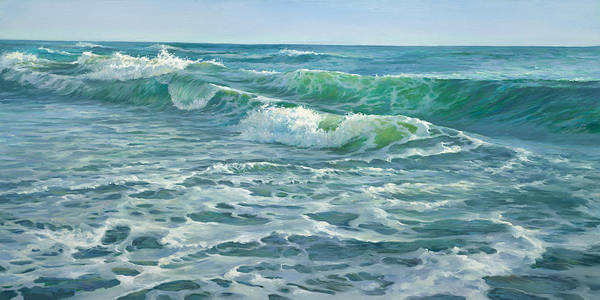Wall Art - Painting - Race For The Shore - Waves by Laurie Snow Hein