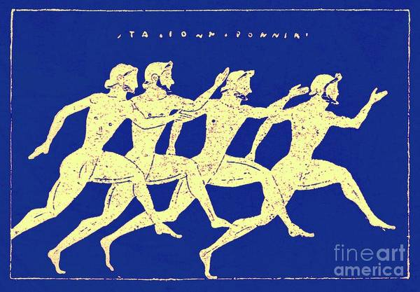 Sportsman Digital Art - Race, Illustration From History Of Greece By Victor Duruy, 1890 by English School