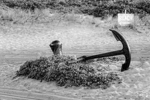 Photograph - Race Point Lighthouse Anchor Bw by Susan Candelario