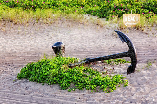 Photograph - Race Point Lighthouse Anchor by Susan Candelario