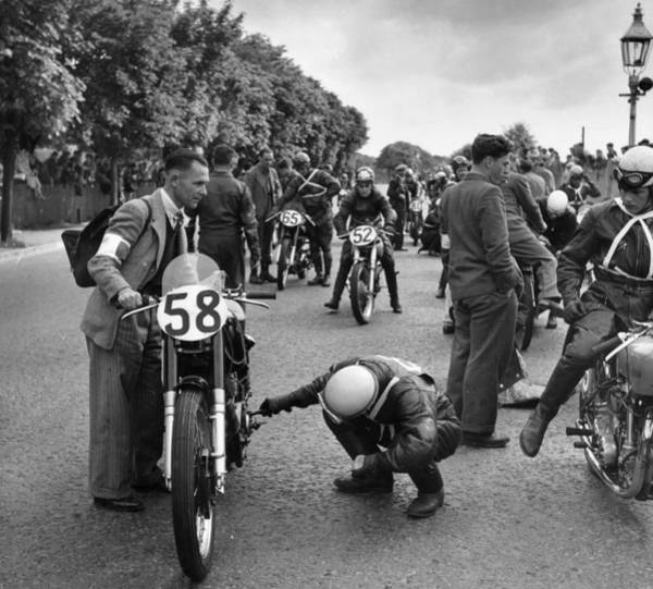 Motorcycle Racing Photograph - Race Start by Bert Hardy