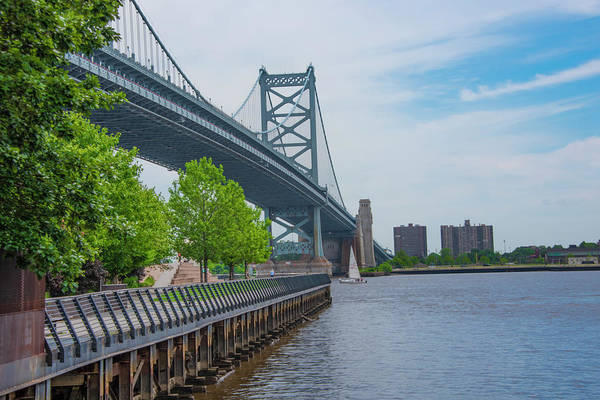 Wall Art - Photograph - Race Street Pier And Benjamin Franklin Bridge by Bill Cannon