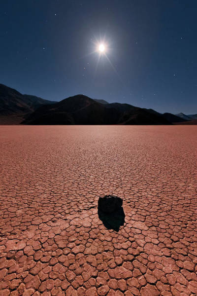 Racetrack Playa Photograph - Race Track, Death Valley by Ropelato Photography; Earthscapes