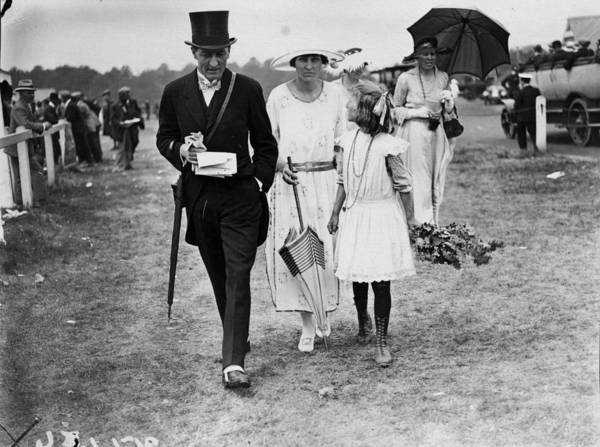 Girl And Horse Photograph - Racegoers And Gypsy by W. G. Phillips