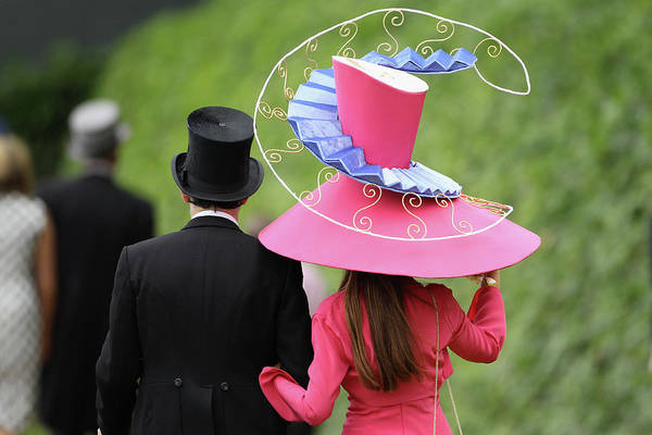 Photograph - Racegoers Attend Ladies Day At Royal by Dan Kitwood