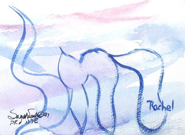 Painting - Rachel Nf1-80 by Hebrewletters Sl