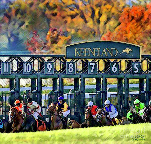 Fall Racing At Keeneland  Art Print