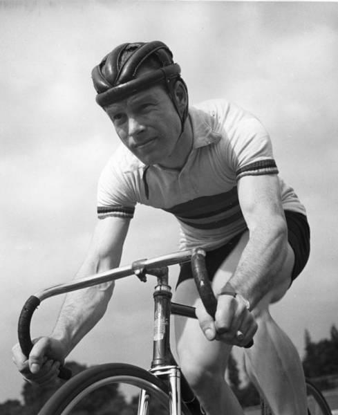 Sport Photograph - Racing Cyclist by Bert Hardy