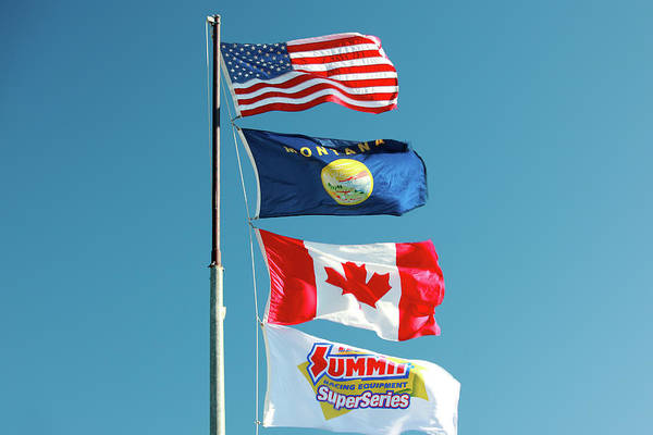 Wall Art - Photograph - Racing Flags by Todd Klassy