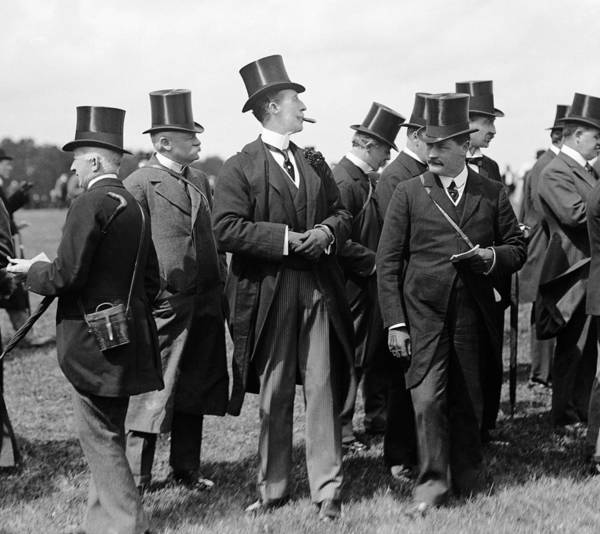 Epsom Derby Photograph - Racing Gents by W. G. Phillips