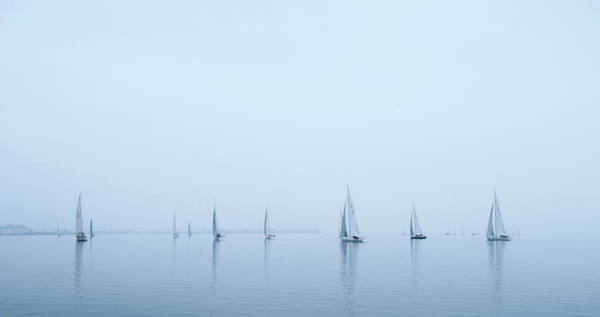 Photograph - Racing In The Mist by Mark Duehmig