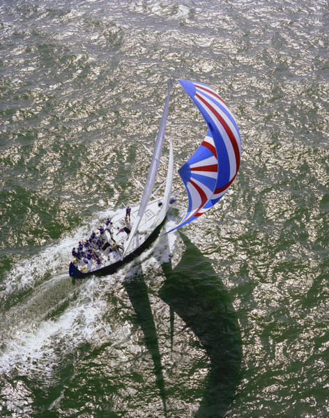 Yacht Photograph - Racing Yacht During Sorc Races , Gulf by Richard Broadwell