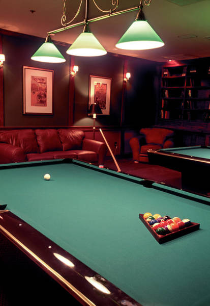 Ball Photograph - Racked Set Of Balls, Boston Billiards by John Coletti