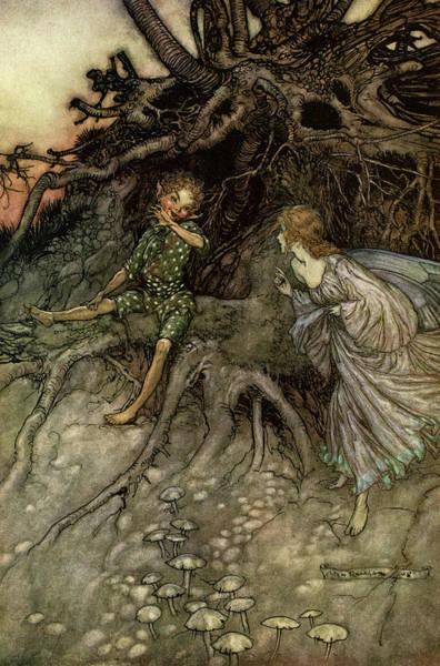 Wall Art - Painting - Rackham Illustration From A Midsummer Night's Dream by Arthur Rackham