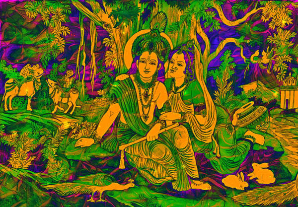 Digital Art - Radhe Krishna by Bliss Of Art