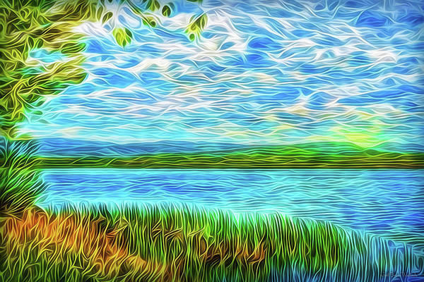 Digital Art - Radiant Peace Lake by Joel Bruce Wallach
