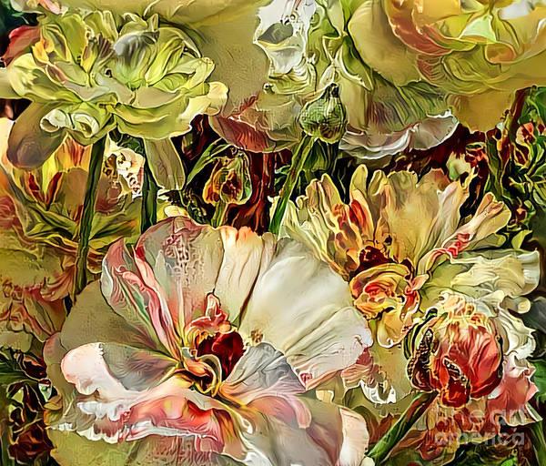 Wall Art - Mixed Media - Radiant Ranunculus by Trudee Hunter