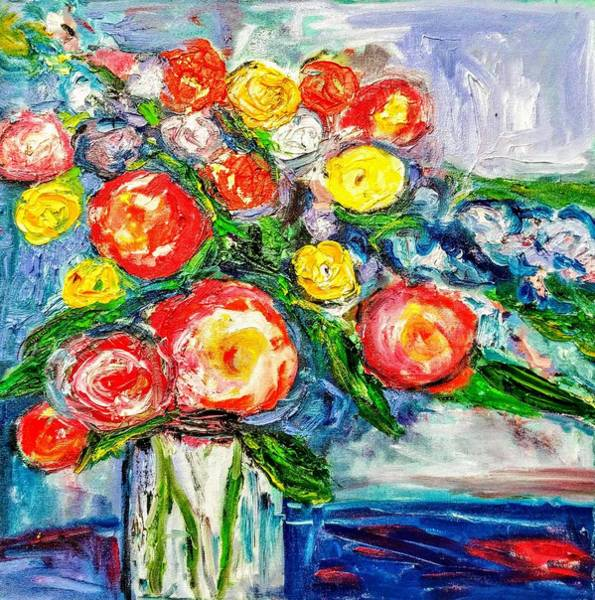 Painting - Radiant Roses by Constance Paul