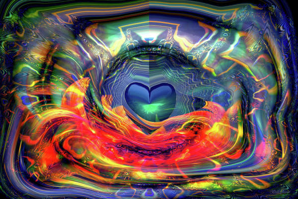 Wall Art - Digital Art - Radiating Love by Linda Sannuti