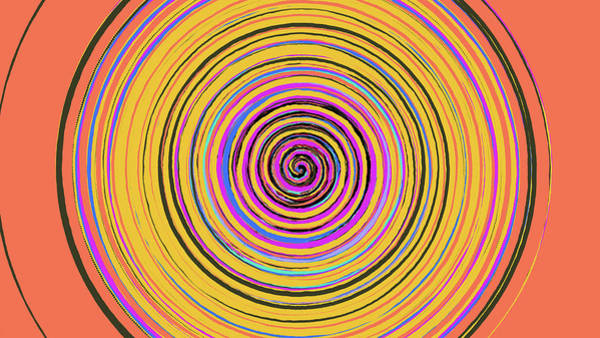 Radical Spiral 19023 Art Print by REVAD David Riley