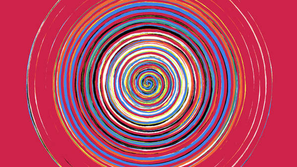 Radical Spiral 19044 Art Print