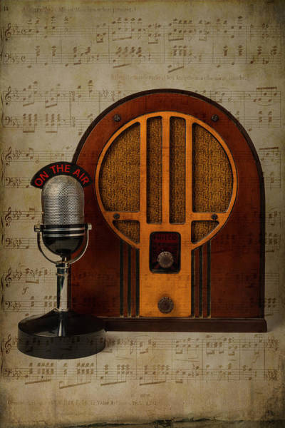Wall Art - Photograph - Radio And Microphone by Garry Gay