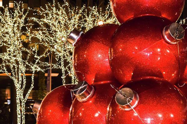 Wall Art - Photograph - Radio City Christmas Balls - New York City by Mary Ann Artz