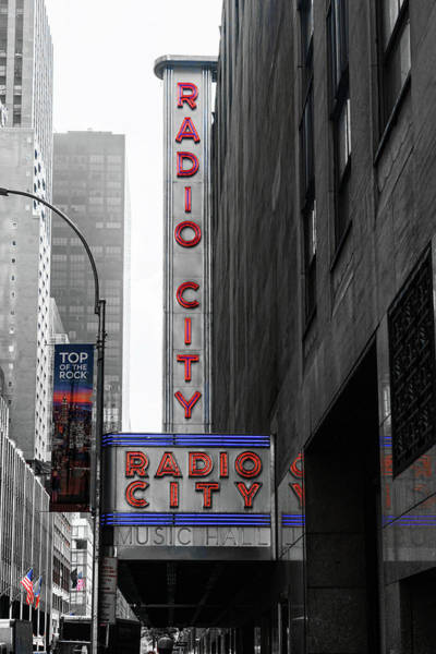Photograph - Radio City Marquee by Sharon Popek