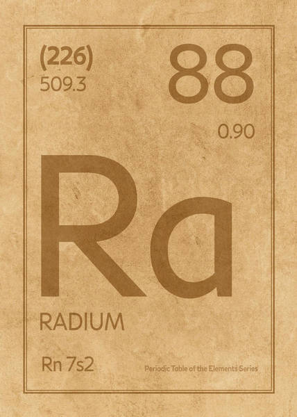 Elements Mixed Media - Radium Element Symbol Periodic Table Series 088 by Design Turnpike