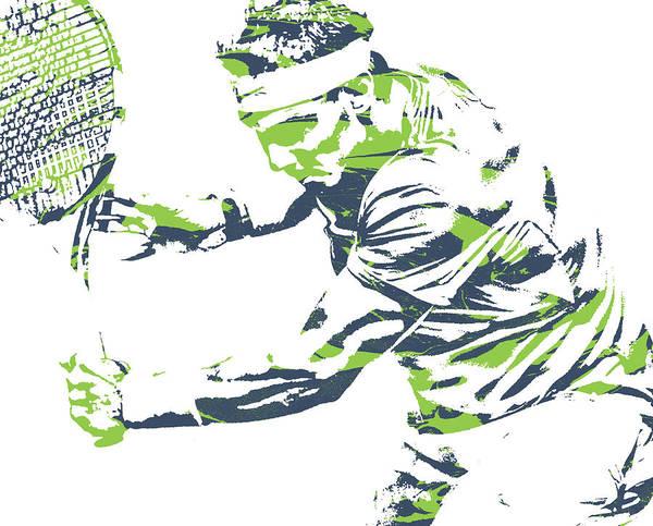 Wall Art - Mixed Media - Rafael Nadal Tennis Pixel Art 1 by Joe Hamilton