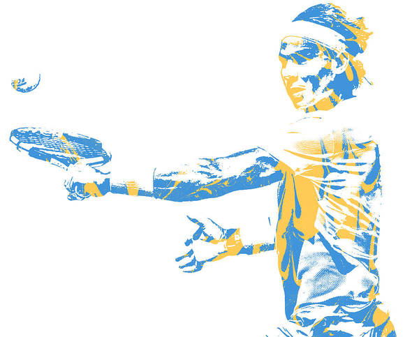 Wall Art - Mixed Media - Rafael Nadal Tennis Pixel Art 2 by Joe Hamilton