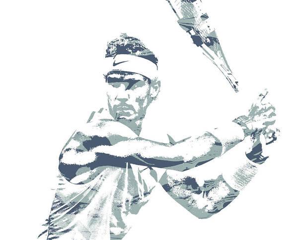 Wall Art - Mixed Media - Rafael Nadal Tennis Pixel Art 3 by Joe Hamilton